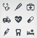 Medical icon set. Vector illustration of medicine on light background Stock Photography