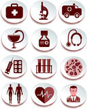 Medical icon set. Vector image Stock Images