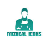 Medical icon with surgeon doctor Royalty Free Stock Image