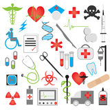 Medical icon  vector set. An illustration of medical icon set and warning sign Royalty Free Stock Photography