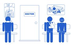 Medical icon, waiting room Stock Images