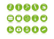 Free Medical Icons 1 Royalty Free Stock Photography - 7384607