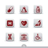 Medical icons 1..smooth series Royalty Free Stock Image