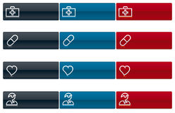 Medical icons 1 (vector). Medical icon set. Easy color changes. Easy proportions change stock illustration