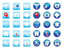 Medical icons. Illustration background Stock Images