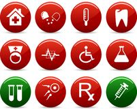 Medical icons. Medical icon set. Vector illustration royalty free illustration