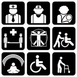 Medical icons. Set of  icons to medical theme Royalty Free Stock Photo