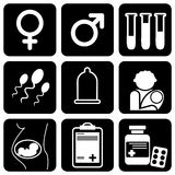 Medical icons. Set of  icons to medical theme Stock Image