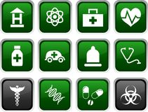 Medical icons. Medical icon set. Medical illustration royalty free illustration