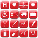 Medical Icons. Collection of 16 medical icons vector illustration