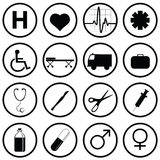 Medical Icons. Set of various medical icons Royalty Free Stock Photos