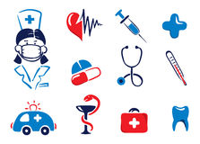 Medical icons. A set of icons medicine Royalty Free Stock Photos