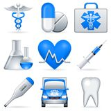 Medical icons. Set of 9 medical icons Stock Photography