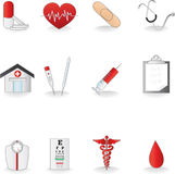Medical icons. A  illustration of a set of medical icons Royalty Free Stock Images
