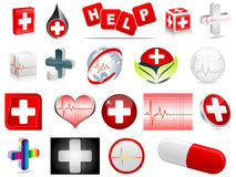 Medical icons. Different medical icons isolated on white Royalty Free Illustration