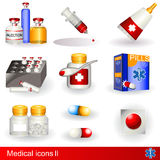 Medical icons 2 Royalty Free Stock Images