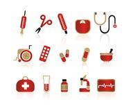 Medical icons 2 Royalty Free Stock Photography