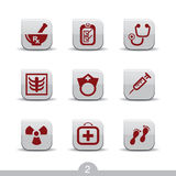 Medical icons 2..smooth series Stock Photos