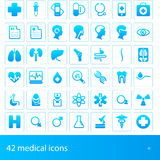 Medical icons. Hospital and medical icons set Stock Images
