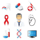 Medical icons. 9 highly detailed medical icons set vector illustration
