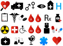 Medical icons. Illustration of medical icons, colorful vector illustration