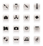 Medical Icons. Collection of  medical themed icons and warning-signs - Vector Icon Set Royalty Free Stock Photos