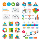 Medical icons. Atom, magnifier glass, checklist Royalty Free Stock Photography