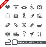 Medical Icons // Basics Stock Photos