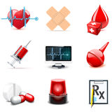 Medical icons | Bella series. Medical and healt care icons | Bella series| Bella series, part 1 Royalty Free Stock Photography