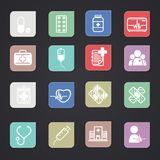 Medical Icons color Stock Images