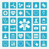 Medical icons. Colorful medical  icon set Stock Photography