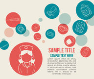 Medical icons. Design, vector illustration eps10 graphic Royalty Free Stock Photo