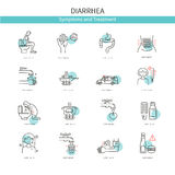 Medical icons diarrhea Royalty Free Stock Images