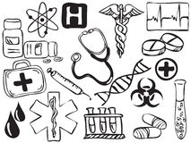 Medical icons drawing Royalty Free Stock Photography