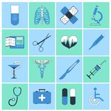 Medical icons flat line Royalty Free Stock Photography