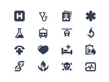 Medical icons. Medical and health care icons set Stock Image