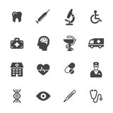 Medical Icons. Medical and health care icons. Simple flat vector icons set on white background Stock Images