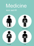 Medical icons. Medical icon set. Editable vector illustration Royalty Free Stock Photos
