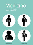 Medical icons. Medical icon set. Editable vector illustration Stock Photography