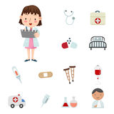 Medical Icons. Illustration of medical Icons Stock Image