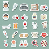 Medical icons. Illustration of medical icons set Royalty Free Stock Images