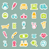 Medical Icons. Illustration of medical icons set Royalty Free Stock Photography
