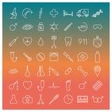 Medical icons, illustration. royalty free illustration