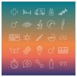 Medical icons,  illustration. Royalty Free Stock Photos