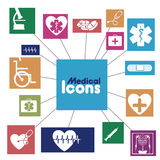 Medical icons infographics. Over white background vector illustration Stock Images