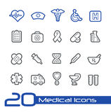 Medical Icons // Line Series Stock Photography