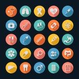 Medical Icons , Long shadow Royalty Free Stock Image