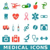 Medical icons. Medicine & Heath Care  Redico Series Royalty Free Stock Photo