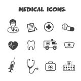 Medical icons. Mono vector symbols royalty free illustration