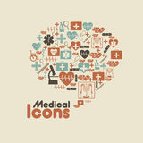 Medical icons. Over cream background vector illustration Stock Photo